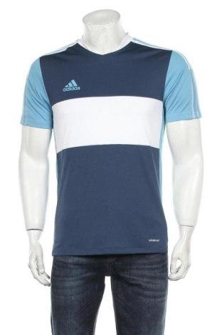 Мъжка тениска Adidas, Размер S, Цвят Син, Полиестер, Цена 22,77лв.