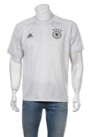 Мъжка тениска Adidas, Размер L, Цвят Сив, Полиестер, Цена 51,00лв.