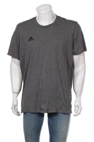 Мъжка тениска Adidas, Размер XXL, Цвят Сив, Памук, Цена 48,00лв.