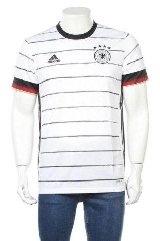 Мъжка тениска Adidas, Размер M, Цвят Бял, Полиестер, Цена 30,02лв.