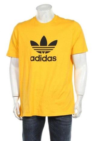 Мъжка тениска Adidas Originals, Размер L, Цвят Жълт, Памук, Цена 48,00лв.