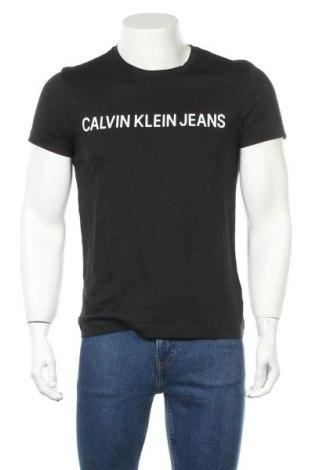 Ανδρικό t-shirt Calvin Klein Jeans, Μέγεθος S, Χρώμα Μαύρο, Βαμβάκι, Τιμή 30,54€