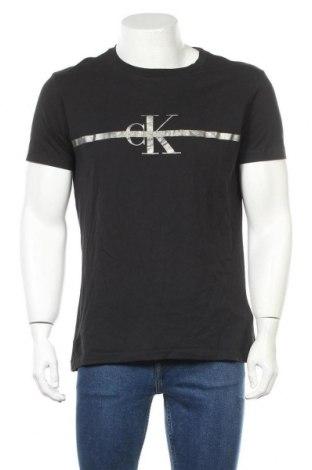 Ανδρικό t-shirt Calvin Klein, Μέγεθος XL, Χρώμα Μαύρο, Βαμβάκι, Τιμή 32,99€