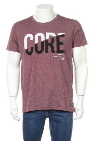 Мъжка тениска Core By Jack & Jones, Размер XL, Цвят Лилав, 65% полиестер, 35% памук, Цена 18,20лв.