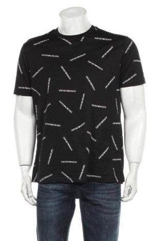 Мъжка тениска Emporio Armani, Размер XL, Цвят Черен, Памук, Цена 74,12лв.