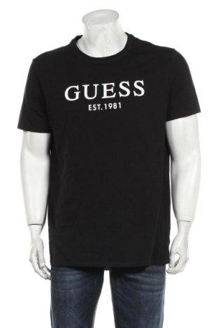Ανδρικό t-shirt Guess, Μέγεθος XXL, Χρώμα Μαύρο, 95% βαμβάκι, 5% ελαστάνη, Τιμή 28,61€