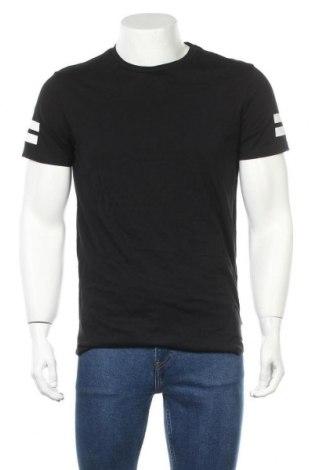 Мъжка тениска Core By Jack & Jones, Размер S, Цвят Черен, Памук, Цена 27,60лв.