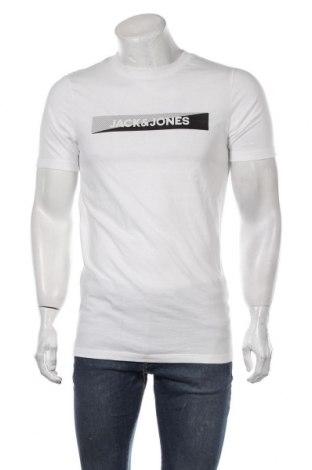 Мъжка тениска Jack & Jones, Размер L, Цвят Бял, Памук, Цена 36,75лв.