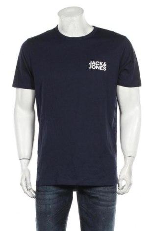 Мъжка тениска Jack & Jones, Размер L, Цвят Син, Памук, Цена 34,50лв.