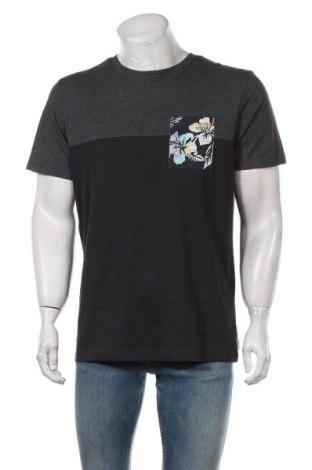 Мъжка тениска Jack & Jones, Размер L, Цвят Сив, 85% памук, 15% полиестер, Цена 20,58лв.