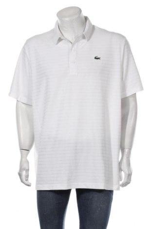 Мъжка тениска Lacoste, Размер 3XL, Цвят Бял, Полиестер, Цена 55,50лв.