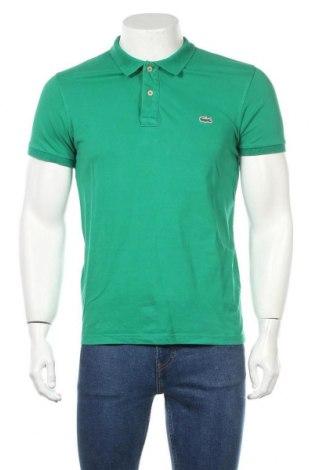Мъжка тениска Lacoste, Размер M, Цвят Зелен, 100% памук, Цена 28,50лв.