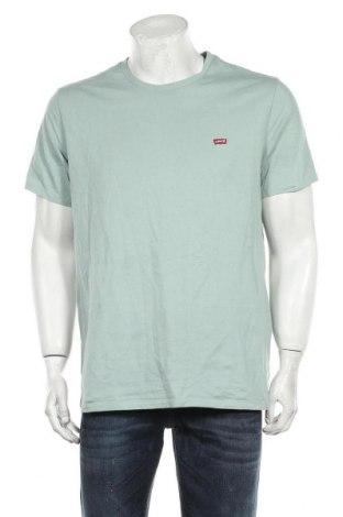 Мъжка тениска Levi's, Размер L, Цвят Зелен, Памук, Цена 42,00лв.