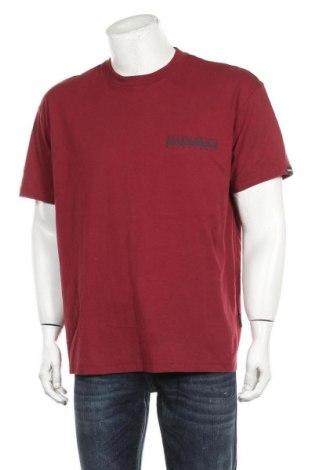 Tricou de bărbați Napapijri, Mărime L, Culoare Roșu, Bumbac, Preț 140,52 Lei