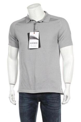 Мъжка тениска Napapijri, Размер L, Цвят Сив, 98% полиестер, 2% еластан, Цена 66,75лв.