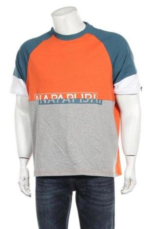 Tricou de bărbați Napapijri, Mărime L, Culoare Gri, Bumbac, Preț 140,52 Lei