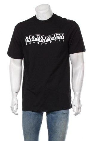 Ανδρικό t-shirt Napapijri, Μέγεθος L, Χρώμα Μαύρο, Βαμβάκι, Τιμή 34,70€