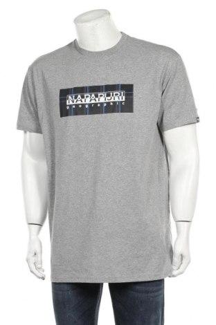 Мъжка тениска Napapijri, Размер L, Цвят Сив, 70% памук, 30% полиестер, Цена 48,95лв.
