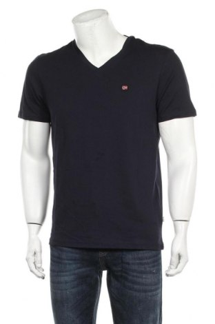 Мъжка тениска Napapijri, Размер L, Цвят Син, Памук, Цена 42,72лв.