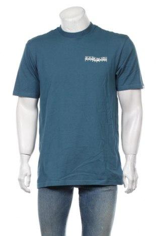 Мъжка тениска Napapijri, Размер L, Цвят Син, Памук, Цена 66,75лв.
