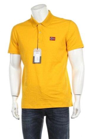 Мъжка тениска Napapijri, Размер L, Цвят Жълт, Памук, Цена 66,75лв.