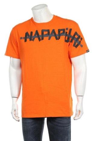 Tricou de bărbați Napapijri, Mărime L, Culoare Portocaliu, Bumbac, Preț 140,52 Lei