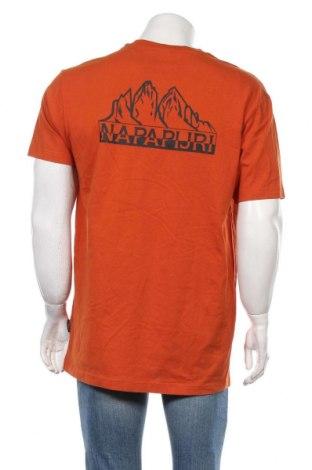 Мъжка тениска Napapijri, Размер L, Цвят Оранжев, Памук, Цена 30,47лв.