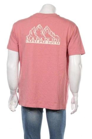 Мъжка тениска Napapijri, Размер L, Цвят Розов, Памук, Цена 40,05лв.