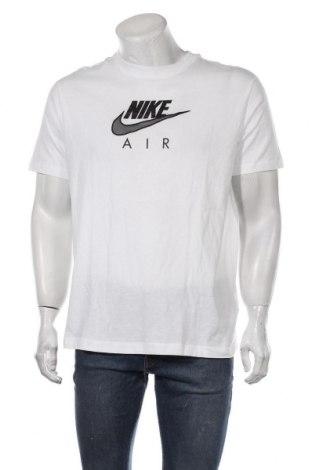 Мъжка тениска Nike, Размер M, Цвят Бял, Памук, Цена 51,75лв.