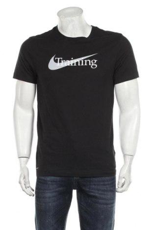 Ανδρικό t-shirt Nike, Μέγεθος S, Χρώμα Μαύρο, 57% βαμβάκι, 43% πολυεστέρας, Τιμή 24,74€