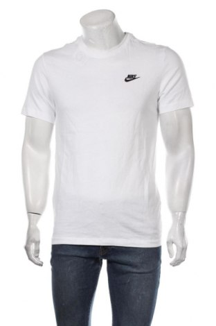 Мъжка тениска Nike, Размер S, Цвят Бял, Памук, Цена 51,75лв.