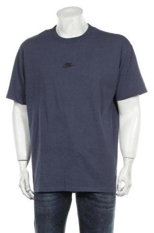 Мъжка тениска Nike, Размер L, Цвят Син, Памук, Цена 48,00лв.