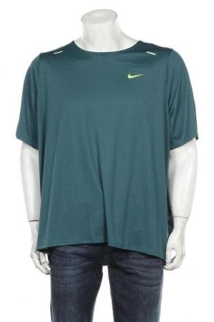 Мъжка тениска Nike, Размер XXL, Цвят Зелен, Полиестер, Цена 43,50лв.