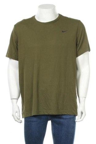 Мъжка тениска Nike, Размер XL, Цвят Зелен, 57% памук, 43% полиестер, Цена 48,00лв.