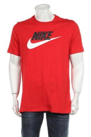 Мъжка тениска Nike, Размер M, Цвят Червен, Памук, Цена 48,00лв.
