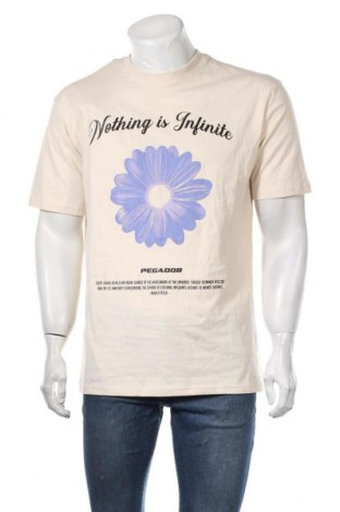 Мъжка тениска Pegador, Размер S, Цвят Бежов, Памук, Цена 24,36лв.