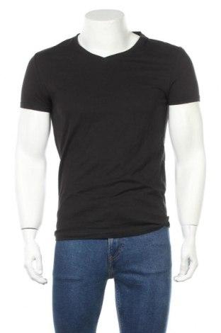Мъжка тениска Pier One, Размер S, Цвят Черен, 100% памук, Цена 23,25лв.
