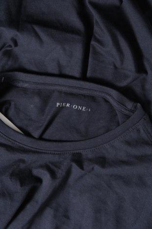 Мъжка тениска Pier One, Размер S, Цвят Син, Памук, Цена 16,82лв.