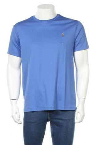 Мъжка тениска Polo By Ralph Lauren, Размер L, Цвят Син, Памук, Цена 66,75лв.