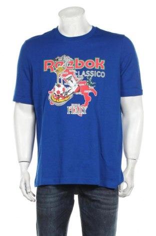 Мъжка тениска Reebok, Размер M, Цвят Син, 95% памук, 5% еластан, Цена 22,80лв.