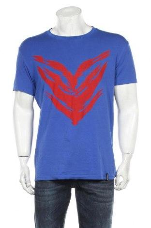 Ανδρικό t-shirt Roberto Cavalli, Μέγεθος XL, Χρώμα Μπλέ, 95% βαμβάκι, 5% ελαστάνη, Τιμή 97,42€