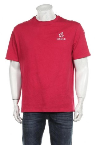 Мъжка тениска SikSilk, Размер M, Цвят Червен, Памук, Цена 27,00лв.