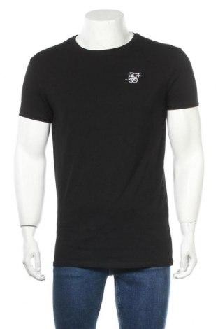 Мъжка тениска SikSilk, Размер M, Цвят Черен, 95% памук, 5% еластан, Цена 26,40лв.