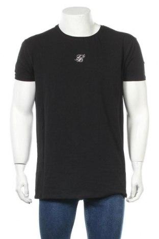 Мъжка тениска SikSilk, Размер XL, Цвят Черен, 95% памук, 5% еластан, Цена 34,50лв.
