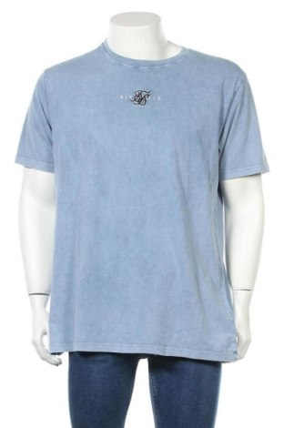 Мъжка тениска SikSilk, Размер L, Цвят Син, Памук, Цена 24,60лв.