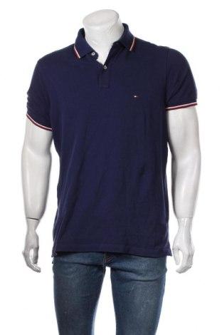 Ανδρικό t-shirt Tommy Hilfiger, Μέγεθος L, Χρώμα Μπλέ, Βαμβάκι, Τιμή 38,14€