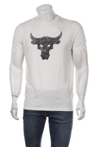 Ανδρικό t-shirt Under Armour, Μέγεθος M, Χρώμα Εκρού, 60% βαμβάκι, 40% πολυεστέρας, Τιμή 30,54€