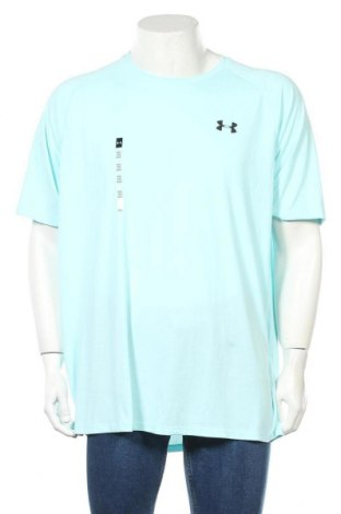 Мъжка тениска Under Armour, Размер XXL, Цвят Син, Полиестер, Цена 51,00лв.