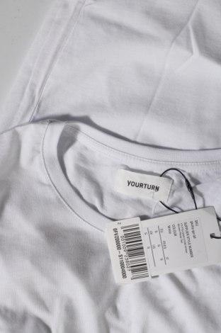 Мъжка тениска Your Turn, Размер S, Цвят Бял, Памук, Цена 18,56лв.