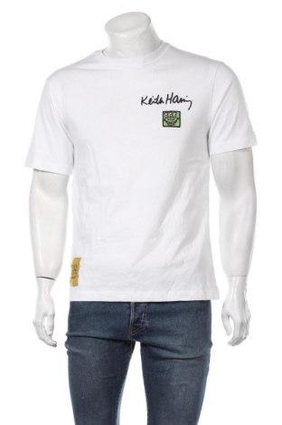 Ανδρικό t-shirt Zara, Μέγεθος M, Χρώμα Λευκό, Βαμβάκι, Τιμή 12,37€